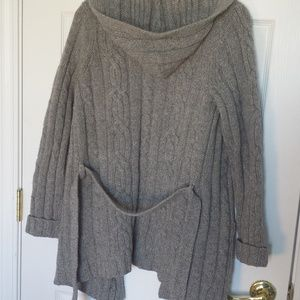 Abercrombie & Fitch wool grey cardigan M